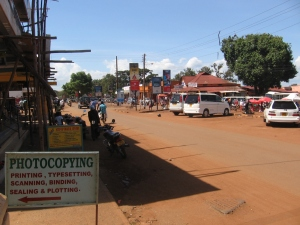 A snapshot of Main Street, downtown Jinja.